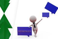 3d man messenger illustration Royalty Free Stock Image