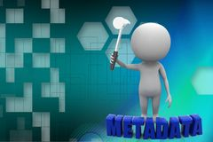3d man metadata illustration Stock Images
