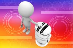 3d man with mic concept illustration Royalty Free Stock Image