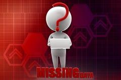 3d man missing data illustration Stock Photos