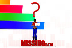 3d man missing data illustration Stock Image
