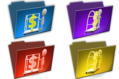 3d Man money carrier cconcept icon Stock Image