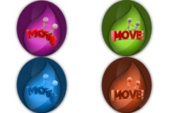 3d man move icon Stock Photography