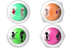 3d Man music band concept icon Stock Photography