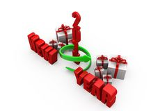 3d man new year gift growth concept Stock Images