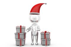 3d man new year 2015 gifts concept Stock Photography