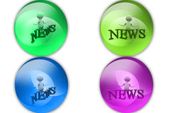 3d man news icon Royalty Free Stock Photography