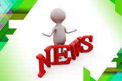 3d man news illustration Stock Image