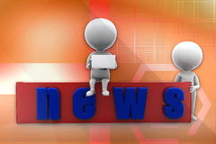 3d man news illustration Stock Photo