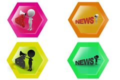 3D Man news speaker concept icon Royalty Free Stock Image