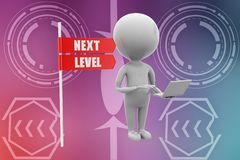 3d man next level illustration Stock Photo