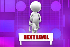 3d man next level Royalty Free Stock Photo