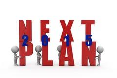 3d man next plan 2015 concept Stock Image