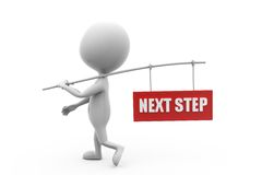 3d man next step concept Royalty Free Stock Images