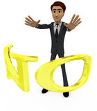 3d man with NO alphabet concept Royalty Free Stock Photos