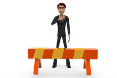 3d man no entry concept Royalty Free Stock Images