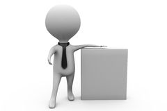 3d man notice board concept Royalty Free Stock Photography