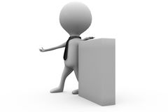3d man notice board concept Royalty Free Stock Images