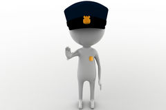 3d man officer concept Royalty Free Stock Image