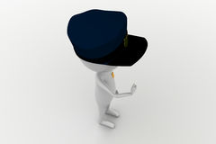 3d man officer concept Royalty Free Stock Photography