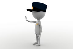 3d man officer concept Royalty Free Stock Photo