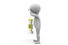 3d man oil lamp concept Stock Image