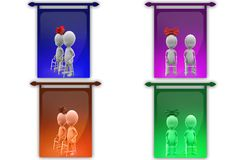 3D Man old couple concept icon Stock Image