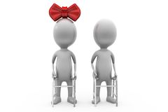 3d man old couple concept Royalty Free Stock Photo