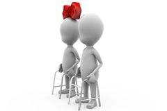 3d man old couple concept Royalty Free Stock Images