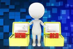 3d man old new illustration Royalty Free Stock Image