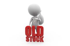 3d man old stock concept Stock Photo