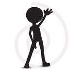 3d man with one hand raised Royalty Free Stock Photography