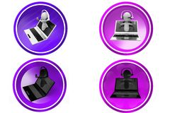 3D Man online call center concept icon Stock Photo
