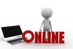 3d man online Stock Image