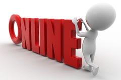 3d man online Stock Images