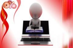 3d man online degree illustration Royalty Free Stock Image