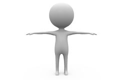 3d man open arm concept Stock Photo