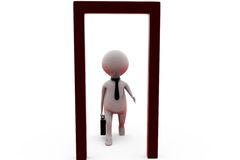 3d man opened door concept Stock Photography