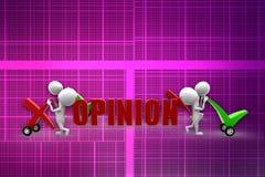 3d  man opinion illustration Stock Image