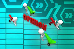 3d  man opinion illustration Royalty Free Stock Images