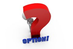 3d man option question concept Stock Photos