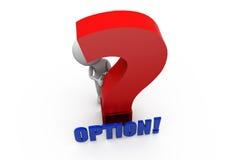 3d man option question concept Stock Photos