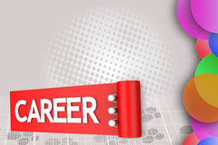 3d man own career path  illustration Stock Photography