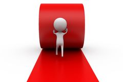 3d man own path concept Royalty Free Stock Image