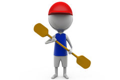 3d man paddle concept Stock Photography
