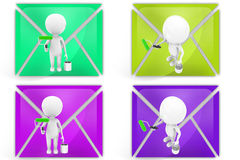 3d man paint icon Royalty Free Stock Image
