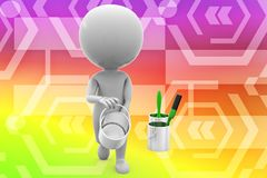 3d man paint illustration Royalty Free Stock Image