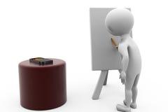 3d man painter concept Stock Photo