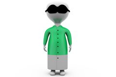 3d man pajama concept Stock Images