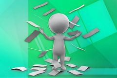 3d man paper illustration Royalty Free Stock Image